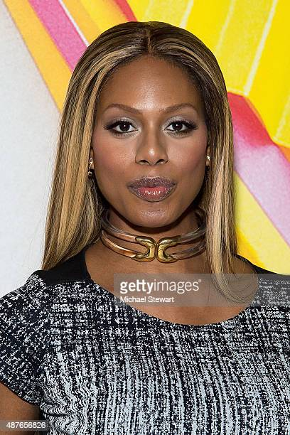 Actress Laverne Cox attends the Desigual fashion show during Spring 2016 New York Fashion Week at The Arc, Skylight at Moynihan Station on September...