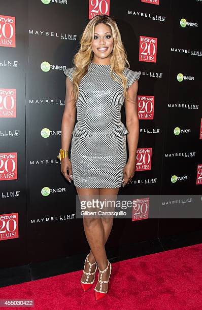 Actress Laverne Cox attends the Instyle 20th Anniversary Party at Diamond Horseshoe at the Paramount Hotel on September 8 2014 in New York City