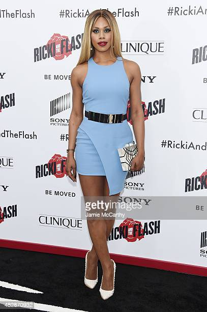 Actress Laverne Cox attends the New York premier of 'Ricki And The Flash' at AMC Lincoln Square Theater on August 3 2015 in New York City