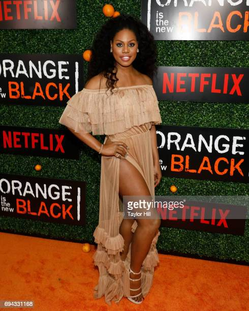 Actress Laverne Cox attends the Season 5 celebration of 'Orange is the New Black' at Catch on June 9 2017 in New York City