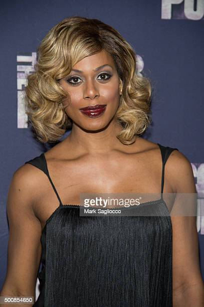 Actress Laverne Cox attends the 'The Color Purple' Broadway Opening Night at The Bernard B Jacobs Theatre on December 10 2015 in New York City