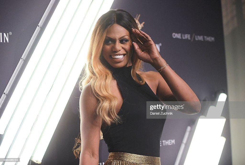 Actress Laverne Cox attends the The House Of Remy Martin 'One Life/Live Them' Launch Event With Jeremy Renner at ArtBeam on October 20, 2015 in New York City.
