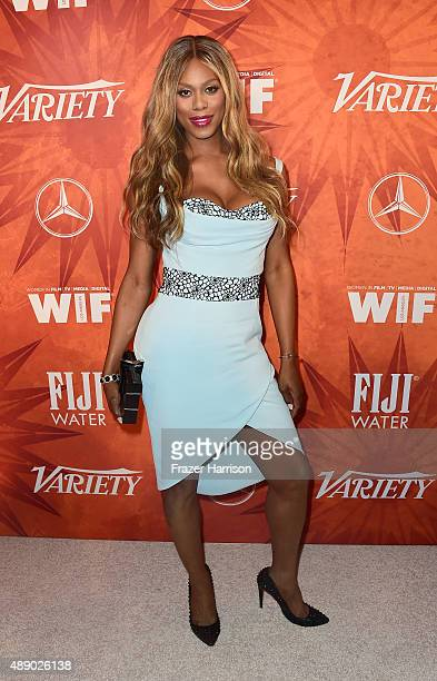 Actress Laverne Cox attends the Variety and Women in Film Annual PreEmmy Celebration at Gracias Madre on September 18 2015 in West Hollywood...