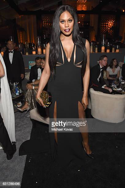 Actress Laverne Cox attends The Weinstein Company and Netflix Golden Globe Party presented with Moet Chandon at The Beverly Hilton Hotel on January 8...