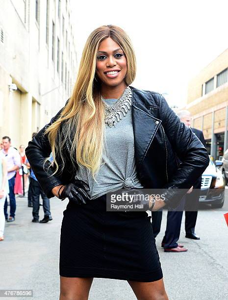 Actress Laverne Cox is seen on the street in soho on June 11 2015 in New York City