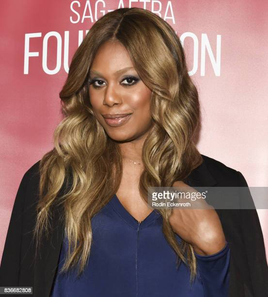 Actress Laverne Cox poses for portrait at SAGAFTRA Foundation Conversations with Orange Is The New Black at SAGAFTRA Foundation Screening Room on...