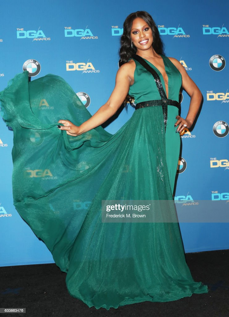 Actress Laverne Cox poses in the press room during the 69th Annual Directors Guild of America Awards at The Beverly Hilton Hotel on February 4, 2017 in Beverly Hills, California.