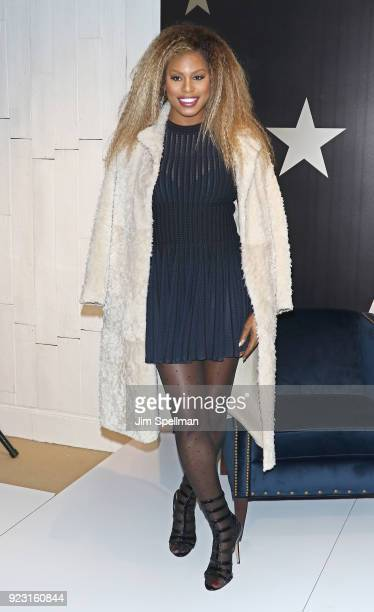 Actress Laverne Cox visits Macy's Herald Square on February 22 2018 in New York City
