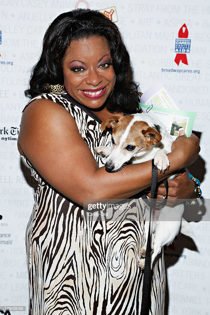 Actress LaVon Fisher-Wilson attends the Broadway Barks 15th Animal Adoption Event at Shubert Alley on July 13, 2013 in New York City.