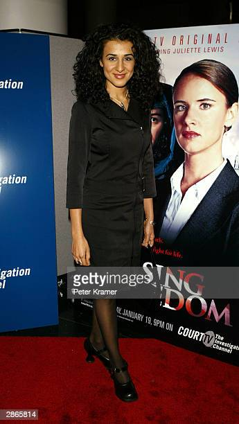 Actress Layla Alizada attends the Court TV premiere of Chasing Freedom January 13 2004 in New York City