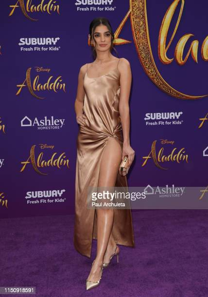 """Actress Laysla De Oliveira attends the premiere of Disney's """"Aladdin"""" on May 21, 2019 in Los Angeles, California."""