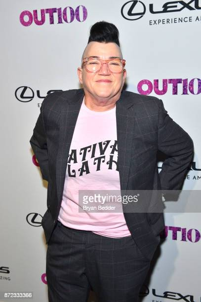 Actress Lea DeLaria attends OUT Magazine #OUT100 Event presented by Lexus at the the Altman Building on November 9 2017 in New York City