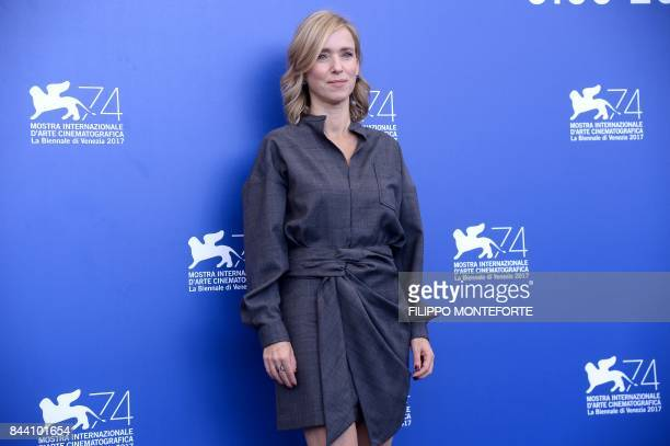 Actress Lea Drucker attends the photocall of the movie 'Jusqu'à la Garde' presented in competition at the 74th Venice Film Festival on September 8...