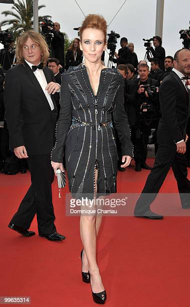 Actress Lea Drucker attends the 'You Will Meet A Tall Dark Stranger' Premiere held at the Palais des Festivals during the 63rd Annual International...