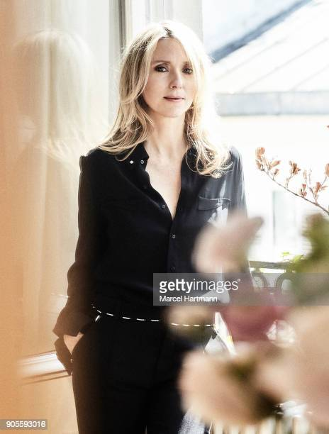Actress Lea Drucker is photographed for Self Assignment on March 27 2017 in Paris France