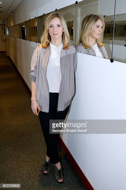Actress Lea Drucker presents the Movie 'Arretezmoi la' during the 'Vivement Dimanche' French TV Show at Pavillon Gabriel on December 21 2015 in Paris...
