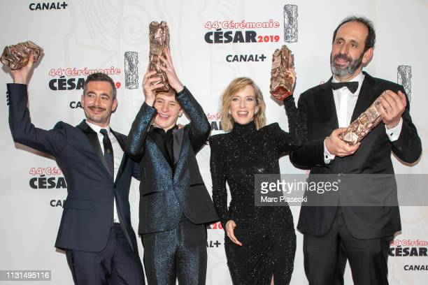 Actress Lea Drucker winner of the award for Best Actress for Jusqu'a la garde poses in the press room during the 44th Cesar Awards Ceremony at Salle...
