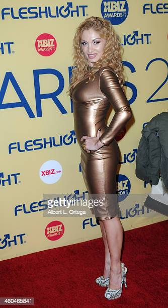 Actress Lea Lexis arrives for the 2013 XBIZ Awards held at the Hyatt Regency Century Plaza on January 11 2013 in Century City California