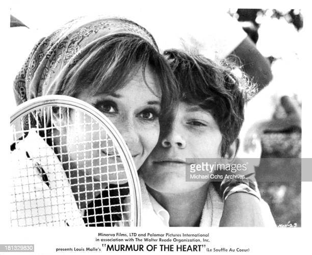 "Actress Lea Massari and actor Benoet Ferreux on set of the movie ""Murmur of the Heart"" in 1971."