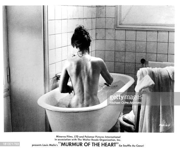 "Actress Lea Massari on set of the movie ""Murmur of the Heart"" in 1971."