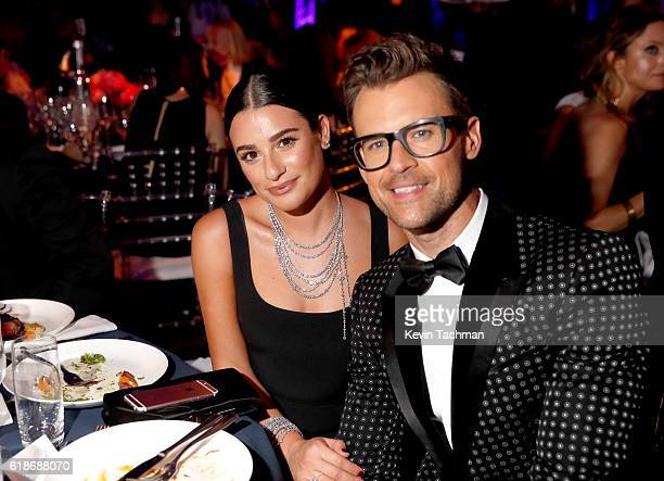 Actress Lea Michele and Brad Goreski attend amfAR's Inspiration Gala at Milk Studios on October 27 2016 in Hollywood California