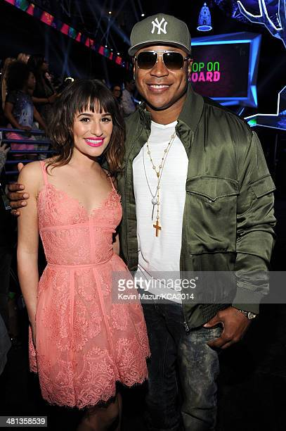 Actress Lea Michele and rapper/actor LL Cool J attend Nickelodeon's 27th Annual Kids' Choice Awards held at USC Galen Center on March 29 2014 in Los...
