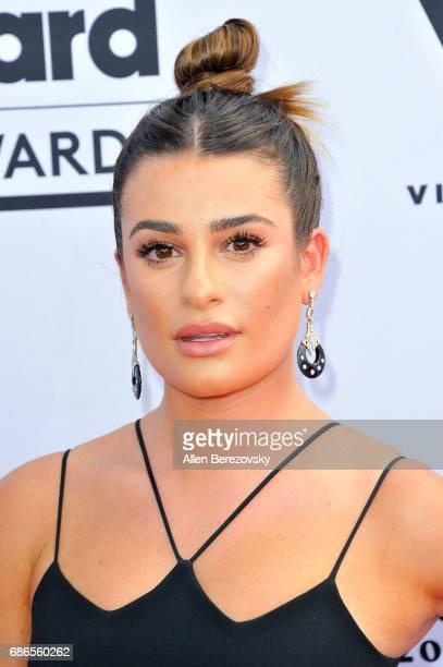 Actress Lea Michele arrives at 2017 Billboard Music Awards at TMobile Arena on May 21 2017 in Las Vegas Nevada