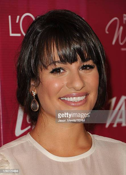 Actress Lea Michele arrives at 3rd Annual Variety's Power of Women Event presented by Lifetimeon at the Beverly Wilshire Four Seasons Hotel September...