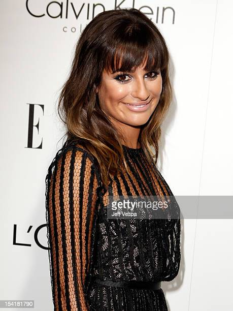 Actress Lea Michele arrives at ELLE's 19th Annual Women In Hollywood Celebration at the Four Seasons Hotel on October 15 2012 in Beverly Hills...