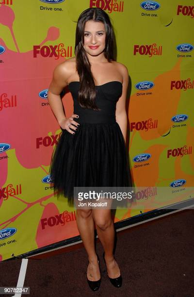 Actress Lea Michele arrives at Fox Fall EcoCasino Party at BOA Steakhouse on September 14 2009 in West Hollywood California