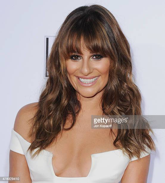 Actress Lea Michele arrives at FX's Sons Of Anarchy Premiere at TCL Chinese Theatre on September 6 2014 in Hollywood California