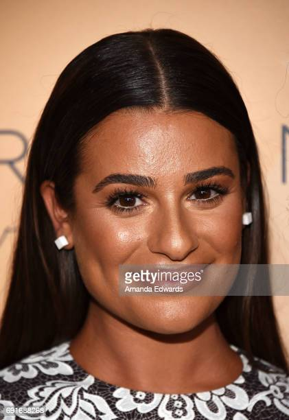 Actress Lea Michele arrives at the 14th Annual Inspiration Awards at The Beverly Hilton Hotel on June 2 2017 in Beverly Hills California