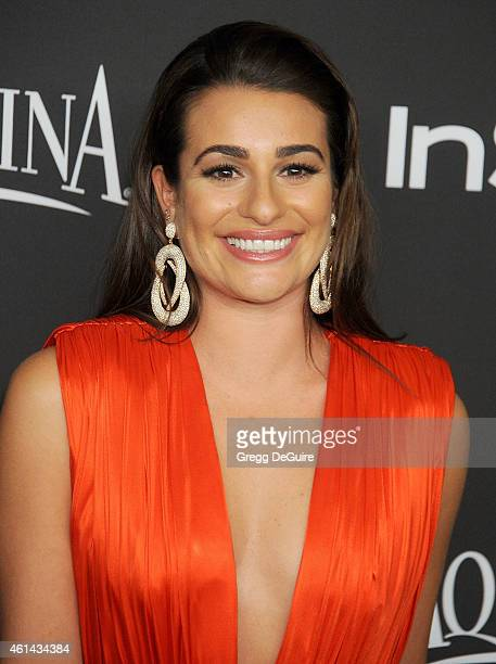 Actress Lea Michele arrives at the 16th Annual Warner Bros. And InStyle Post-Golden Globe Party at The Beverly Hilton Hotel on January 11, 2015 in...