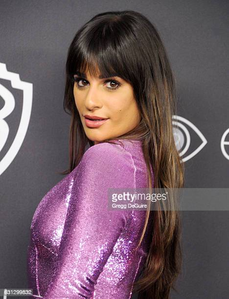 Actress Lea Michele arrives at the 18th Annual PostGolden Globes Party hosted by Warner Bros Pictures and InStyle at The Beverly Hilton Hotel on...