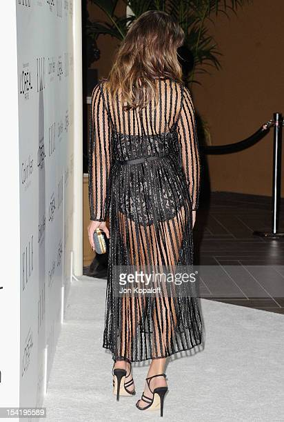 Actress Lea Michele arrives at the 19th Annual ELLE Women In Hollywood Celebration at the Four Seasons Hotel Los Angeles at Beverly Hills on October...