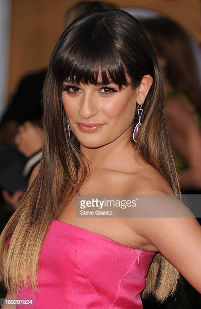 Actress Lea Michele arrives at the 19th Annual Screen Actors Guild Awards held at The Shrine Auditorium on January 27, 2013 in Los Angeles,...
