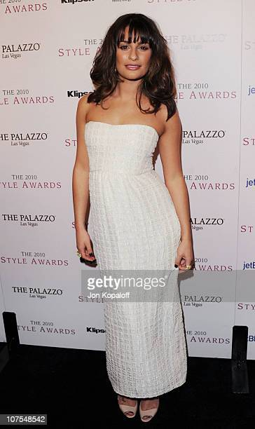 Actress Lea Michele arrives at the 2010 Hollywood Style Awards at Billy Wilder Theater at The Hammer Museum on December 12 2010 in Westwood California