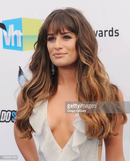 Actress Lea Michele arrives at the 2012 Do Something Awards at Barker Hangar on August 19, 2012 in Santa Monica, California.