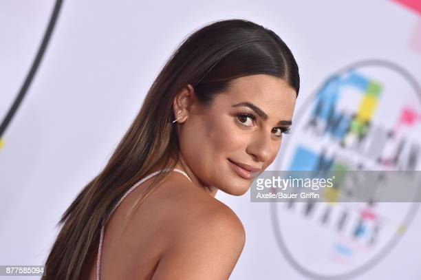 Actress Lea Michele arrives at the 2017 American Music Awards at Microsoft Theater on November 19 2017 in Los Angeles California