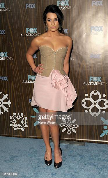 Actress Lea Michele arrives at the Fox Winter 2010 AllStar Party held at Villa Sorisso on January 11 2010 in Pasadena California