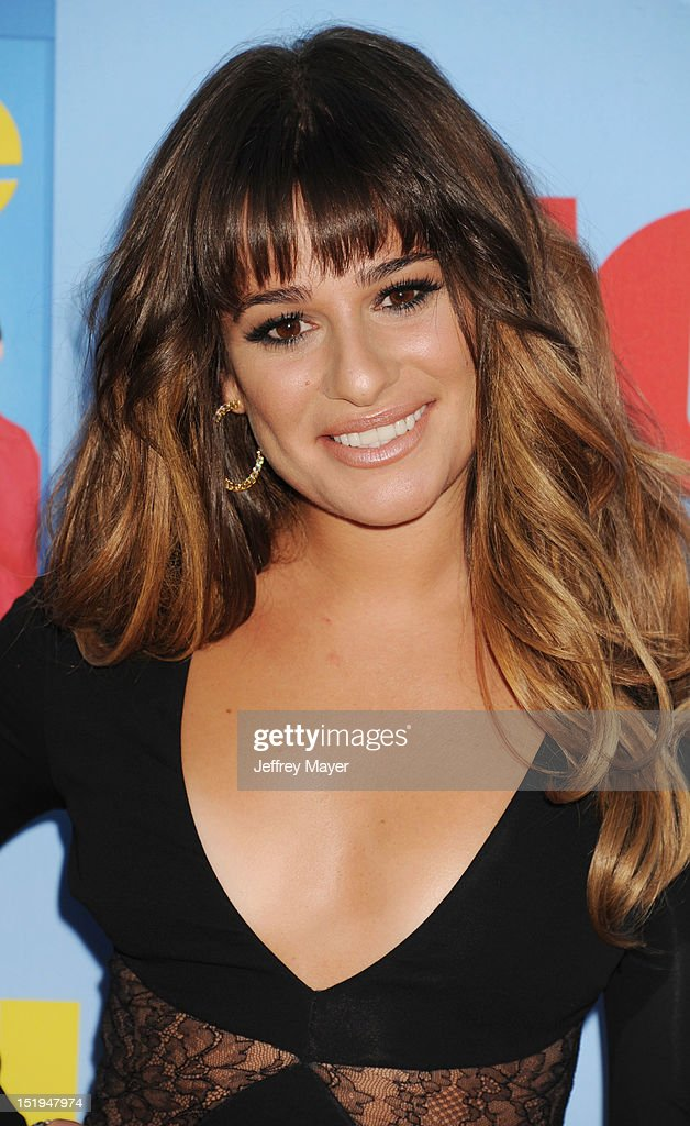 Actress Lea Michele arrives at the 'GLEE' Premiere Screening And Reception at Paramount Studios on September 12, 2012 in Hollywood, California.