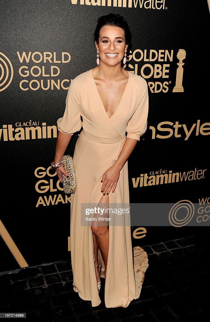 Actress Lea Michele arrives at the Hollywood Foreign Press Association's and In Style's celebration of the 2013 Golden Globes Awards Season at Cecconi's on November 29, 2012 in West Hollywood, California.