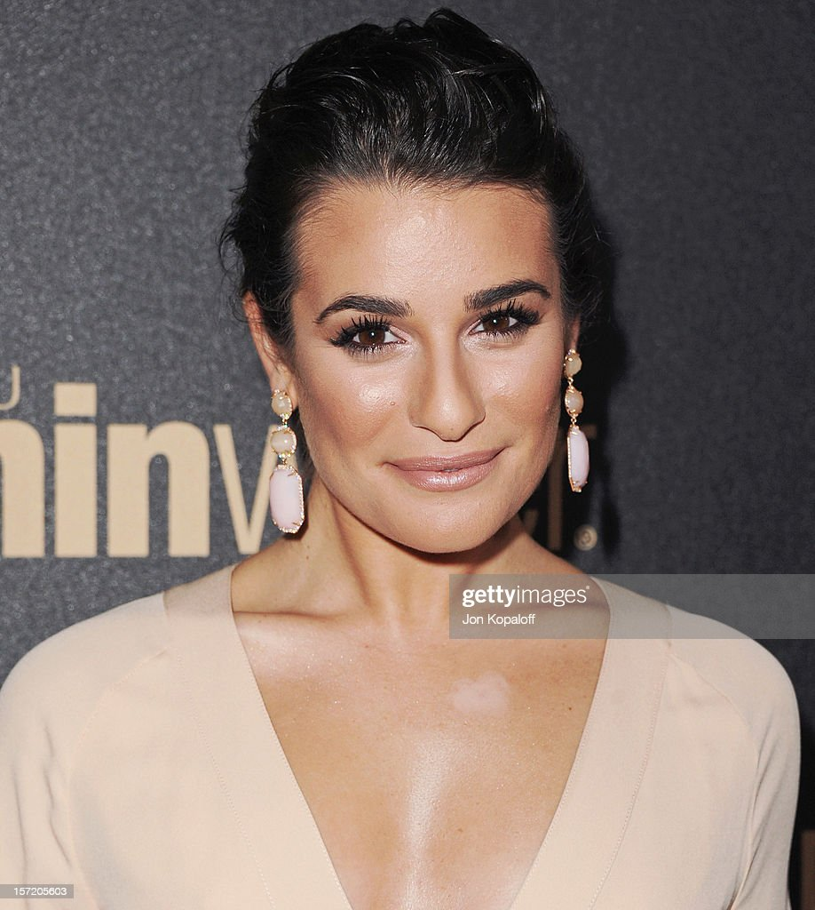 Actress Lea Michele arrives at The Hollywood Foreign Press Association And InStyle Miss Golden Globe 2013 Party at Cecconi's Restaurant on November 29, 2012 in Los Angeles, California.