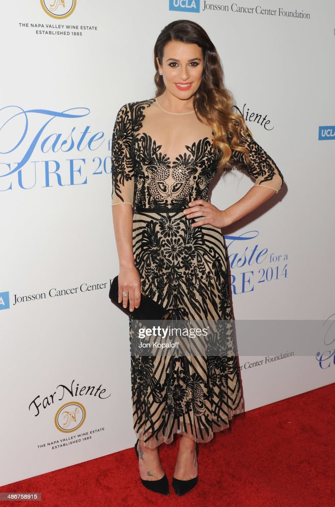 Actress Lea Michele arrives at the Jonsson Cancer Center Foundation's 19th Annual 'Taste For A Cure' at Regent Beverly Wilshire Hotel on April 25, 2014 in Beverly Hills, California.