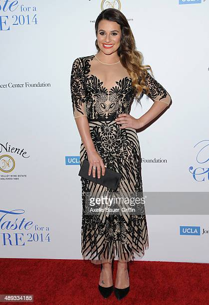 Actress Lea Michele arrives at the Jonsson Cancer Center Foundation's 19th Annual 'Taste For A Cure' at Regent Beverly Wilshire Hotel on April 25...