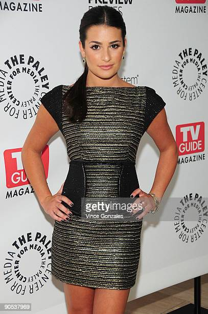 Actress Lea Michele arrives at The Paley Center for Media on September 9 2009 in Beverly Hills California PaleyFest Fall TV Preview Parties Presented...