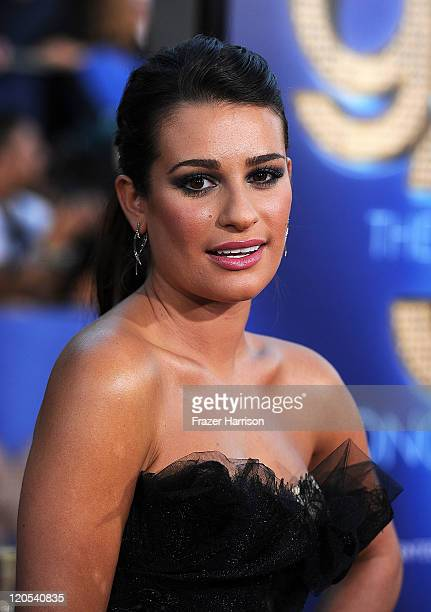 Actress Lea Michele arrives at the Premiere Of Twentieth Century Fox's 'Glee The 3D Concert Movie' at the Regency Village Theater on August 6 2011 in...