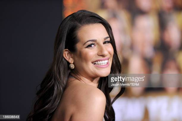 Actress Lea Michele arrives at the premiere of Warner Bros Pictures' New Year's Eve at Grauman's Chinese Theatre on December 5 2011 in Hollywood...