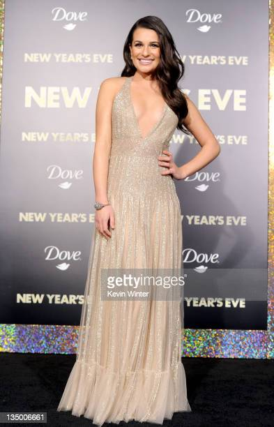 Actress Lea Michele arrives at the premiere of Warner Bros Pictures' 'New Year's Eve' at Grauman's Chinese Theatre on December 5 2011 in Hollywood...