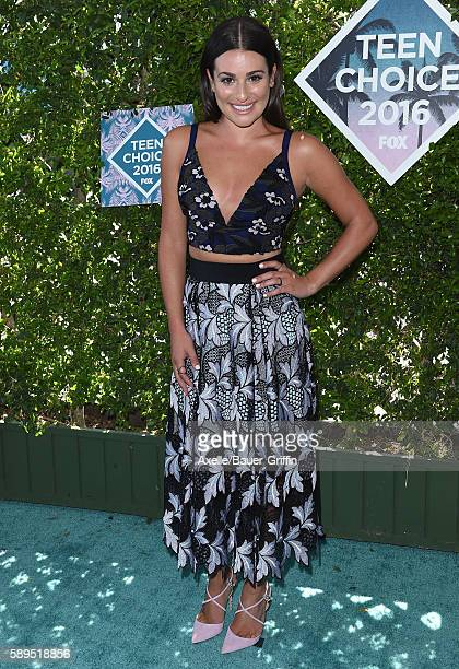 Actress Lea Michele arrives at the Teen Choice Awards 2016 at The Forum on July 31, 2016 in Inglewood, California.